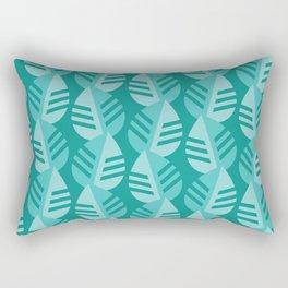 Teal Banana Leaves Print - Jungle Brights Rectangular Pillow
