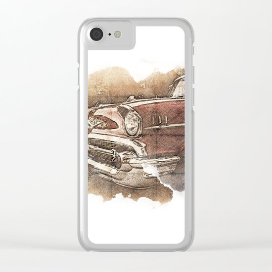Retro Car Clear iPhone Case