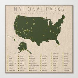 US National Parks Canvas Print