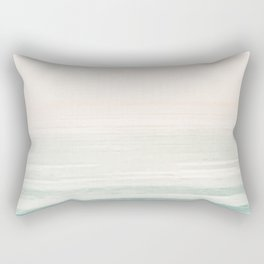 Washed Out Ocean Waves // California Beach Surf Horizon Summer Sunrise Abstract Photograph Vibes Rectangular Pillow