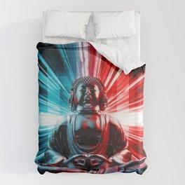 Techno Buddha Duvet Cover
