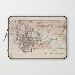 Map of Montana Territory by Charles Roeser (1879) Laptop Sleeve