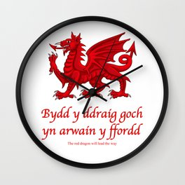 The Red Dragon Will Lead The Way Wall Clock