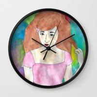 lolita Wall Clocks featuring Lolita by Mikayla Wahl