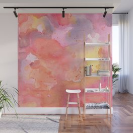 Sunset Color Palette Abstract Watercolor Painting Wall Mural