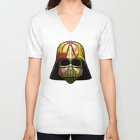 borderlands V-neck T-shirts featuring The Borderlands of the Darth Side by Cranial Matter