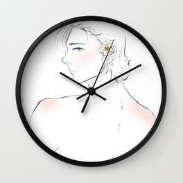 laurent and the flower - captive prince Wall Clock