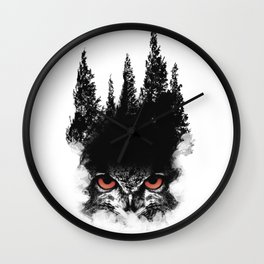 Owl Forest Wall Clock