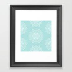 Winter Spirit Mint Framed Art Print