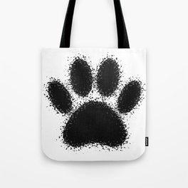 Dog Paw Drawing Tote Bag