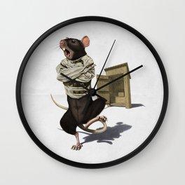 Shithouse (Wordless) Wall Clock