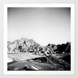 Arid Arab Mountains Art Print