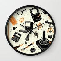 nerd Wall Clocks featuring Nerd Life by Josh Ln