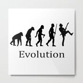 Evolution Rock Metal Print