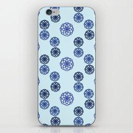 Blue Petals iPhone Skin