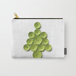 Christmas tree made with green buttons, isolated on white background Carry-All Pouch