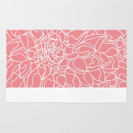 Chrysanthemum Coral Collection Rug