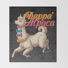 Dappa' Alpaca Throw Blanket