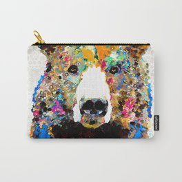 Umm Bearably Good Bear Art by Sharon Cummings Carry-All Pouch
