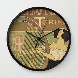 Art nouveau Royal Opera House Turin Torino Wall Clock