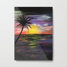 Sunset Sea Metal Print