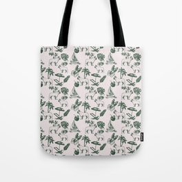 Tropical Dogs Tote Bag