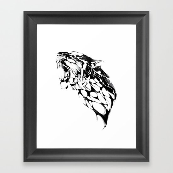 Tiger Growl Framed Art Print