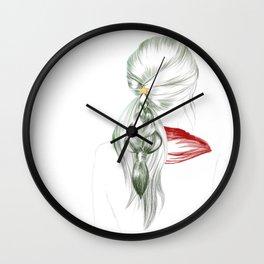 New Year Hair Wall Clock
