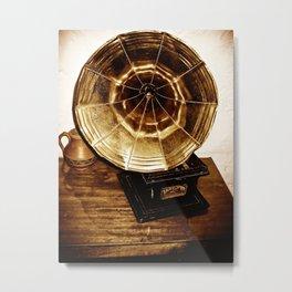 Phonograph Metal Print