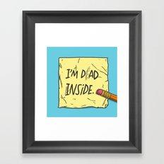 I'm Dad Inside Framed Art Print
