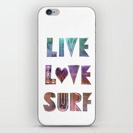 Live Love Surf - I iPhone Skin