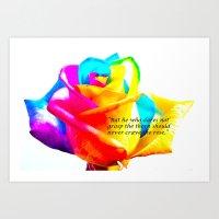 Psychedelic Sentiment Rose  Art Print