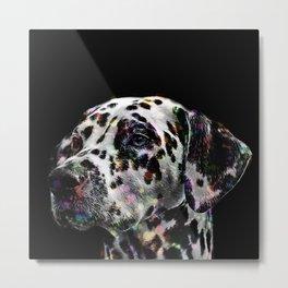 Rainbow Dalmatian Metal Print