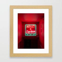 Neon Love Framed Art Print