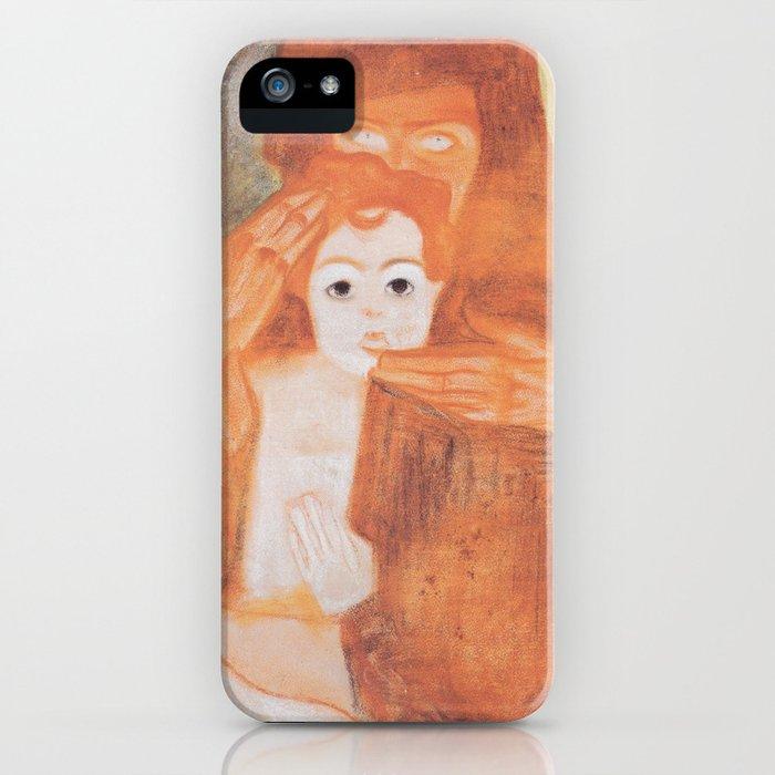 Egon Schiele Madona and Child 1908 iPhone Case