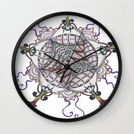 Journey's Compass Mandals Wall Clock