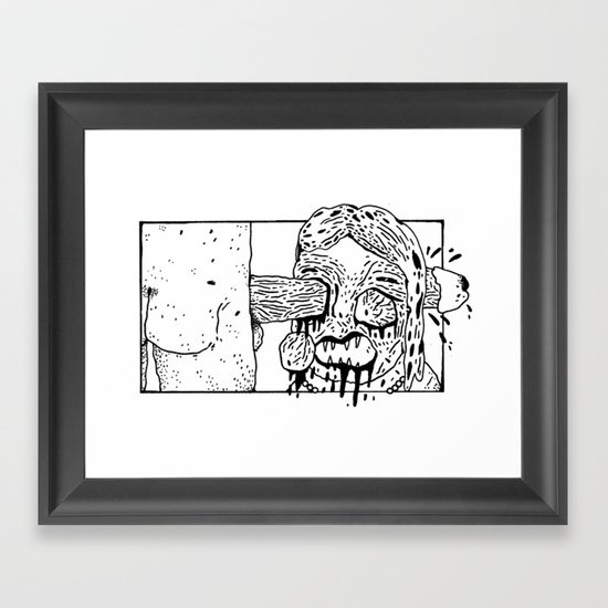 Morning, sweetie.  Framed Art Print