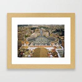Piazza San Pietro, Vatican Framed Art Print