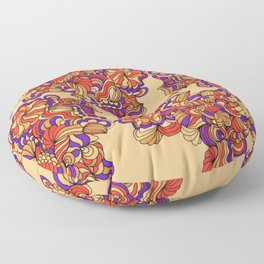 Goldenrod and Violet Floor Pillow