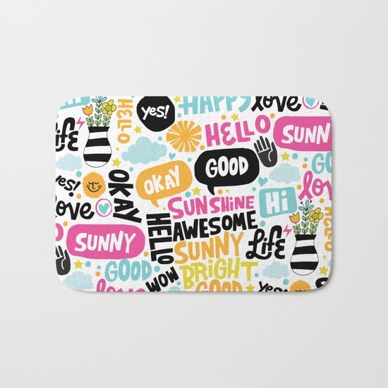 Sunshine & happiness Bath Mat