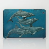 dolphins iPad Cases featuring Dolphins by Beckyliv