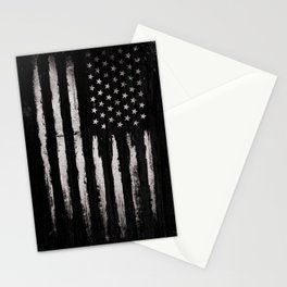 White Grunge American flag Stationery Cards