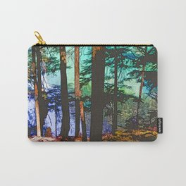 MOUNTAIN LAKE THROUGH HEMLOCK TREES Carry-All Pouch