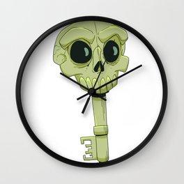 Skeleton Key Wall Clock