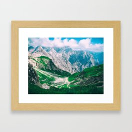 Sicily Italy Moutains Framed Art Print