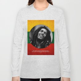 PEACE - LIFE - REGGAE Long Sleeve T-shirt