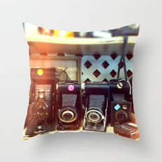 Camera Shop Throw Pillow