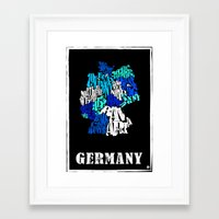 germany Framed Art Prints featuring Germany by HNLdesign