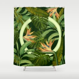 Circle in the Leaves Shower Curtain