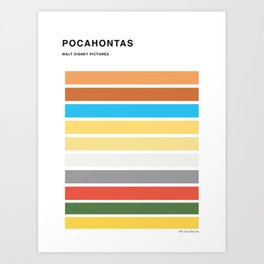 The colors of - Pocahontas Art Print